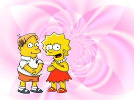 martin and lisa simpson by sakurateam