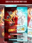 Good vs Evil Halloween Costume Party PSD Flyer by AddictedToLucid