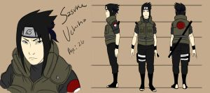 Adult Sasuke Model sheet by pistol-paintbrush493