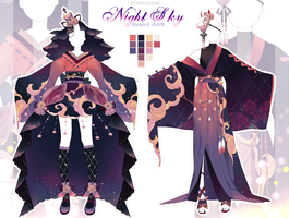 [CLOSE] Night Sky Theme Outfit Adopt #29 | AUCTION by Black-Quose
