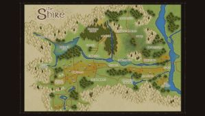 Map of the Shire by LotROLaurelin