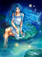 Gweness as Aquarius water by Denaliah