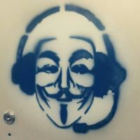 The Anon Radio - Anonymous StreetArt by OpGraffiti