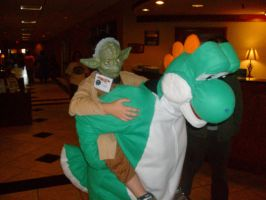 Persacon 2009 - Yoshi and Yoda by foreverwhiteknight