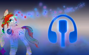 MictheMicrophone Wallpaper With Rainbow Blood by Kage-Kaldaka
