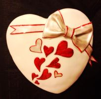 Valentines Day Heart Cake by PerfectlyAbnormal