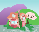 my little pony houses: rose cottage by marie-berry