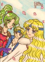 Final Fantasy 6 : Locke, Celes and Terra by dagga19