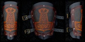 Viking Bracer Thor's Hammer by Wodenswolf