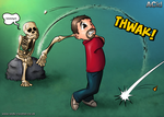 Golfer and Skeleton by AndyCarolan