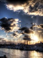 Sunset port VI by digitalminded