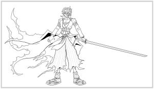Kingdom Hearts-Ichigo LINES by arvalis