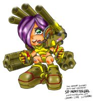 SD Destroid Monster Girl by polidread