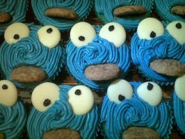 Cookie Monster Cakes! by AshFantastic