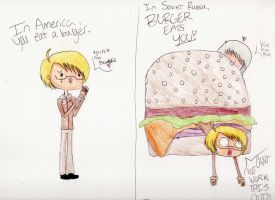 In America You Eat Burgers... by MagnusBaneisEpic