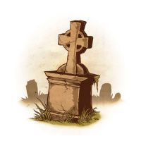 Drawlloween 2015 - Day 16 - Grave by scumbugg