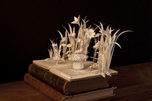 Alice in Wonderland book sculpture - Side view by AnemyaPhotoCreations