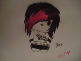Emo kitty by NeverWastedTime