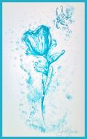 Frozen Rose by SweetLhuna