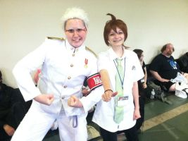 DR/SDR2 Ishida and Hinata cosplay AB 13 by XPockyDemonX