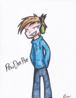 Quick PewDiePie Drawing by Rustyscout