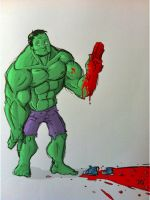 NEVER high-five the Hulk by grizlyjerr