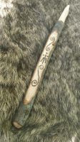 Awen Celtic Spiral Oak Wand by Troll-Blood