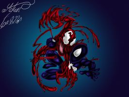Carnage vs Spiderman by SWAVE18