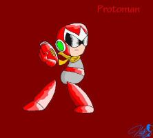 Protoman Smiley by cheddarpaladin