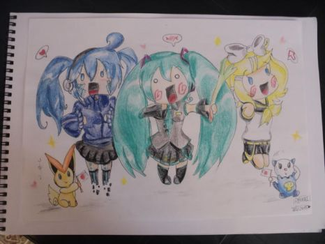 First draw with watercolours tete by Raqui-sama