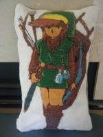 Link Cross Stitch Pillow by Fay-Fever
