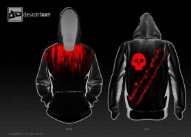 Radioactive Blood gamer Hood - 2nd 8-Bit deviation by sarangpurandare