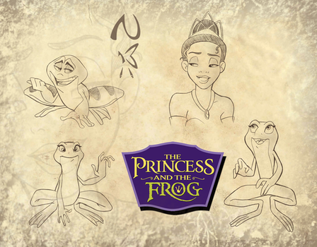 Princess and Frog Sketches 01 by Nippy13
