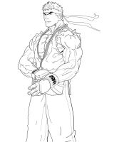 Ryu lines by ruga-rell