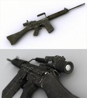 L1A1 Assault Rifle by ExtraNoise