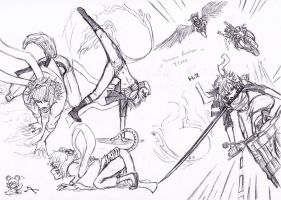 Touhou sketching to action tym by Tres-Iques