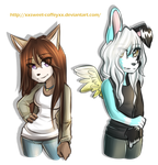 AT with kittykatanimelover14 n sketchee-herself by Sweet-Coffey