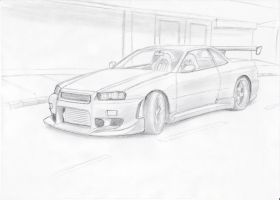 Nissan Skyline by blackdoggdesign