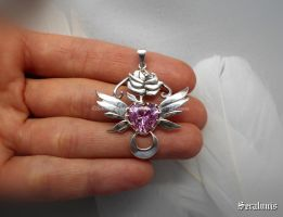 'Pretty guardian' handmade sterling silver pendant by seralune