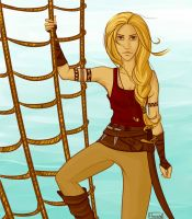 Nora the Pirate by heilow