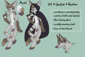 Axel - Reference Sheet by fluffyscarf