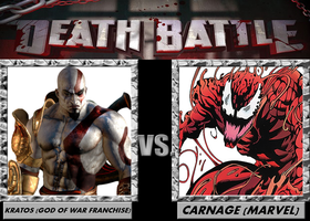 Death Battle, Kratos VS Carnage by 4xEyes1987