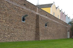 Fortified town wall by steppelandstock
