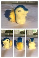 Mini Cyndaqiuil, Needle Felted by Ornithogale