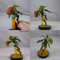 Link Deku Shield And Navi Amiibo by ChibiSilverWings