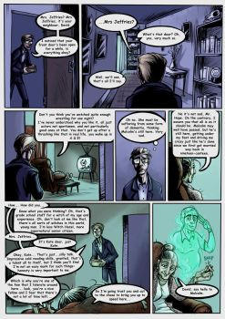 Saturday Night Seance Web Comic Page 3 by dannyrichardwriter