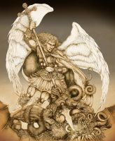 Archangel Michael by PaperCutIllustration