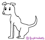Puppy Lineart by BoykinAdopts