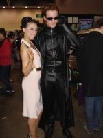 Excella and Wesker by SamiEggPower