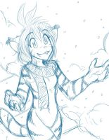 Sketchithon 04 - Snow Tiger by Twokinds